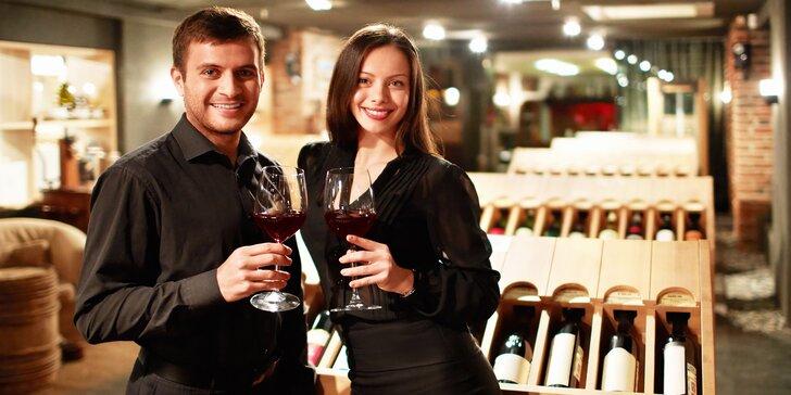 Privátní degustace vín pro 4 osoby: 8 vzorků vín + celá láhev pro každého