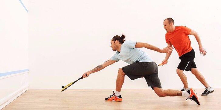 Hodinový pronájem squashového kurtu na všední dny i víkendy