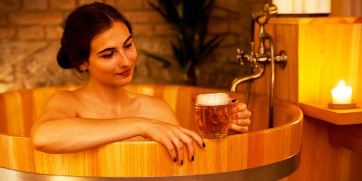 V pivních lázních si báječně odpočinete.