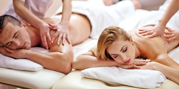 Párová masáž: tradiční thajská, olejová thajská nebo teplá masáž s aroma olejem