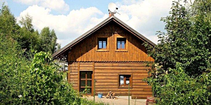 Jaro i léto ve stylové chalupě se saunou v Jizerských horách až pro 13 osob