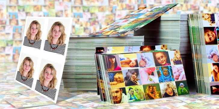 Průkazové fotky nebo vyvolání 50–100 fotografií formátu 9 x 13 cm