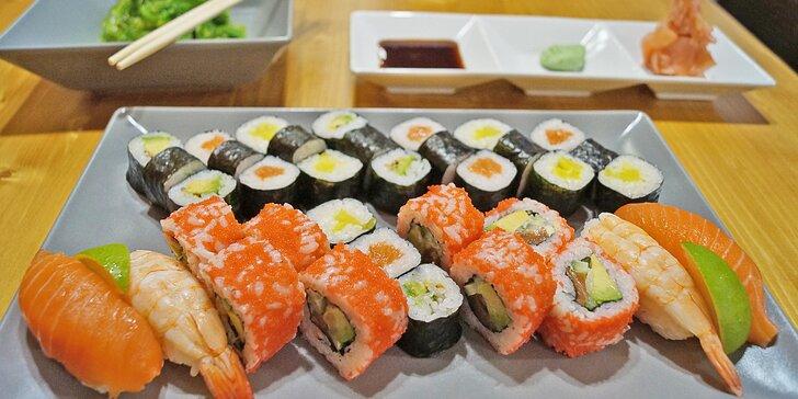 Sushi sety v nové restauraci v centru Liberce: 20 až 36 ks i pro take away