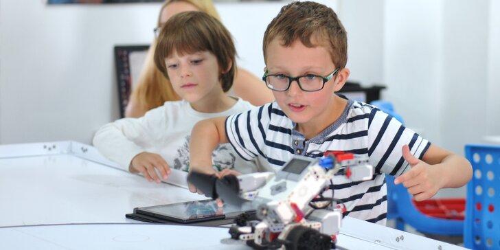 Jedna zkušební lekce robotiky pro děti, na které si postaví robota