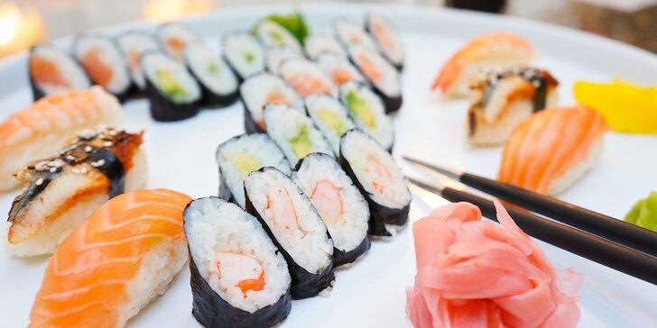 Sushi hostina pro jednoho nebo dva v restauraci Tanuki