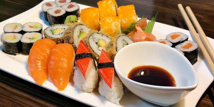 Malý, střední nebo velký sushi set s polévkou Miso