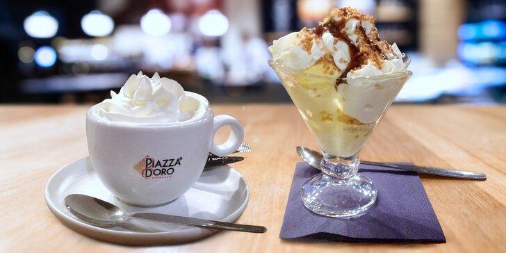 Občerstvení ve studentské kavárně: horké drinky, studené poháry i zákusky