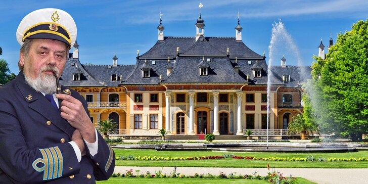Plavba k německému zámku Pillnitz, procházka parkem, oběd i večeře