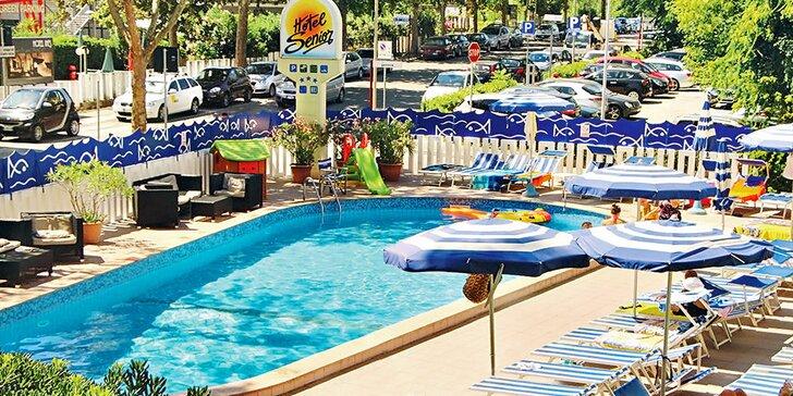 Letní dovolená v Cattolice v 3* hotelu s polopenzí, bazénem, 250 m od pláže