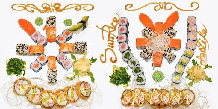 Sushi sety s 18 až 32 kousky: s lososem, tuňákem i čistě vegetariánský