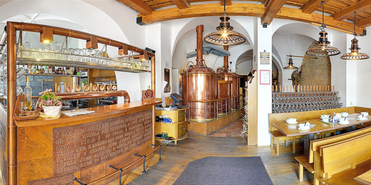 Pobyt plný zážitků v rodinném pivovaru a čokoládovně Černý orel v Kroměříži