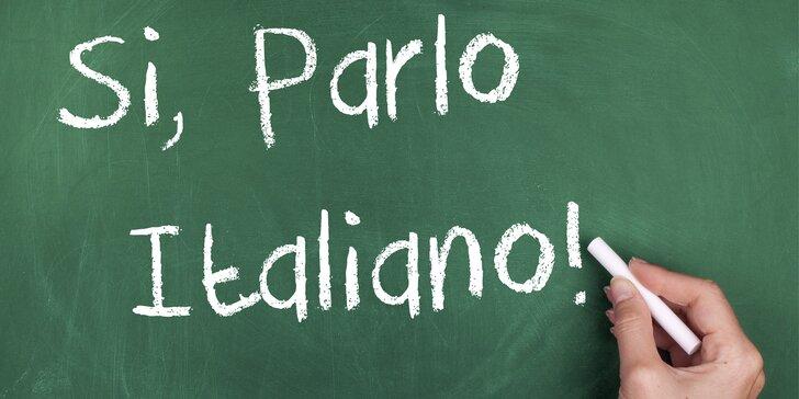 Víkendový kurz italštiny pro začátečníky v květnu nebo červnu