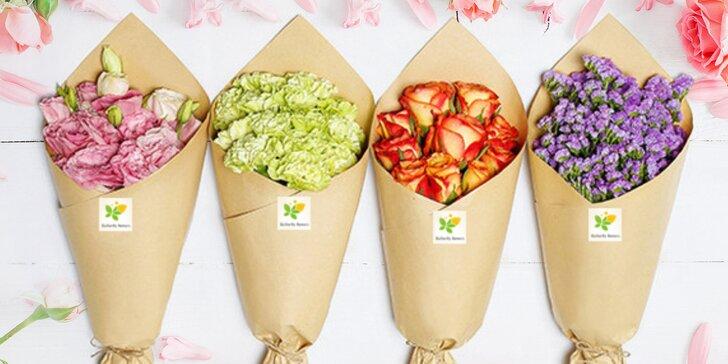 Každé pondělí čerstvá řezaná kytice pro hezčí den