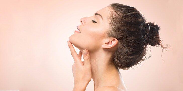 Kosmetické ošetření pro zářivou pleť včetně masáže obličeje, krku a dekoltu