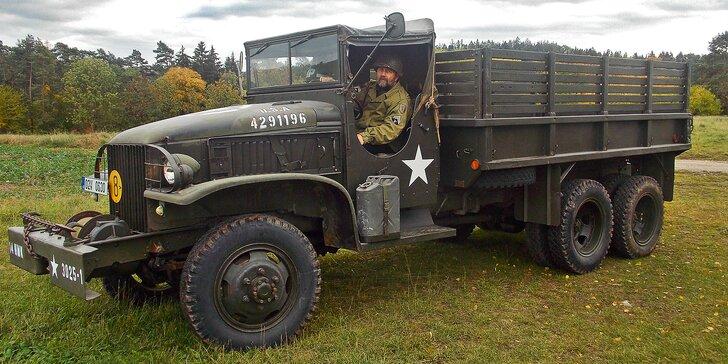 Zážitek jako v roce 1944: Jízda v historickém náklaďáku GMC CCKW