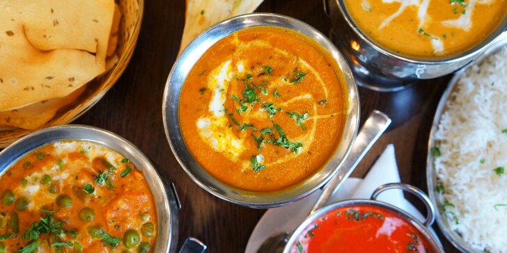 4chodové nepálsko-indické menu v masové i vegetariánské verzi pro 2