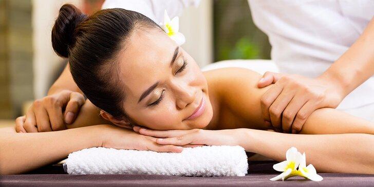 Za vůní orientu: thajská masáž dle výběru - péče o chodidla i záda a šíji