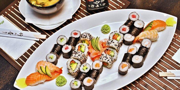 Wasabi sushi - 24 nebo 44 kusů a dvě miso shiru polévky
