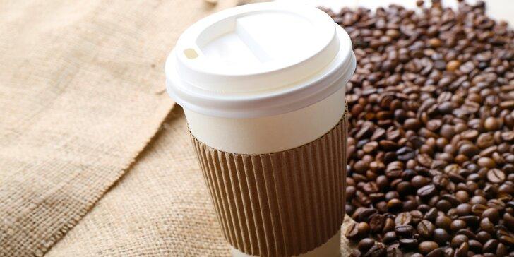 Čerstvě upražená káva: dle výběru z vlastní pražírny do kelímku s sebou