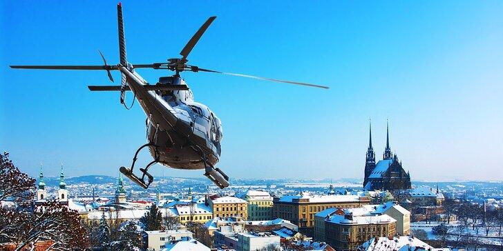 Zážitkový let vrtulníkem: 15 minut nad Brnem až pro 2 pasažéry