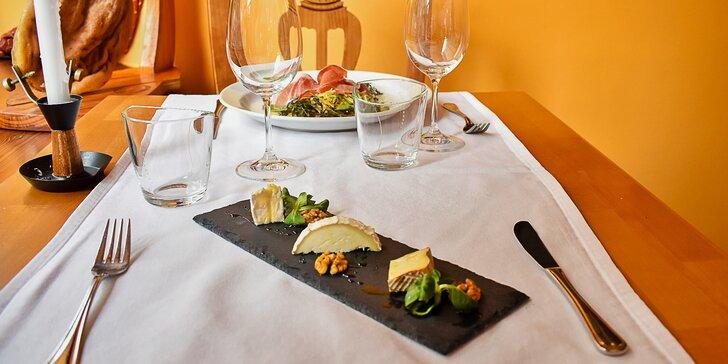 Jarní 4chodové menu: chřest se šunkou, panenka, francouzský sýr i dezert
