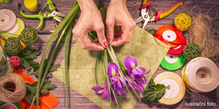 Workshop jarní floristiky v Carmen Flora - slavnostní aranžmá na stůl