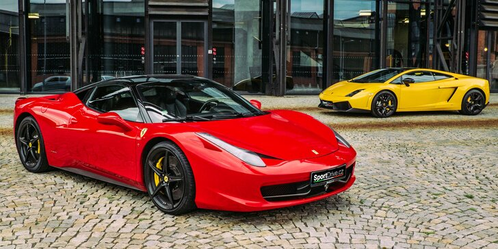 Jízda ve Ferrari 458 Italia nebo v Lamborghini Gallardo LP560-4