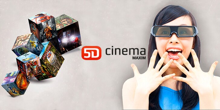 Zažijte pátou dimenzi: lístek na libovolný film do 5D Cinema MAXIM