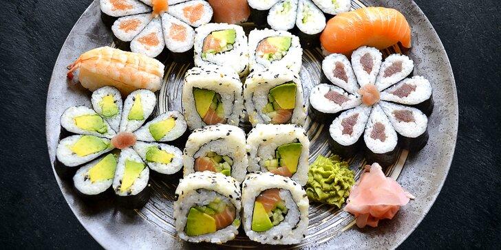 Skvostné na pohled i chuť: Květinové sushi sety o obsahu 24, 32 nebo 43 ks