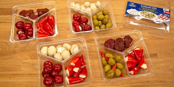 4 druhy antipasti: Odneste si domů mix tradičních slaných delikates
