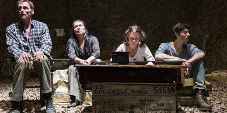 Vstupenka do Malého divadla F. X. Šaldy na divadelní hru Válka