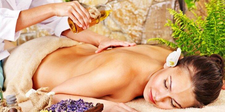 Luxusní vitality masáž bio kokosovým olejem se spojením akupresury