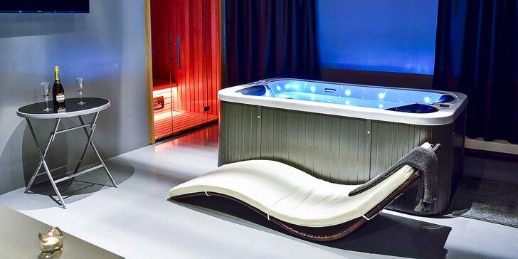 1 nebo 2 hodiny v privátním Luxury Spa s vířivkou a infrasaunou pro dva
