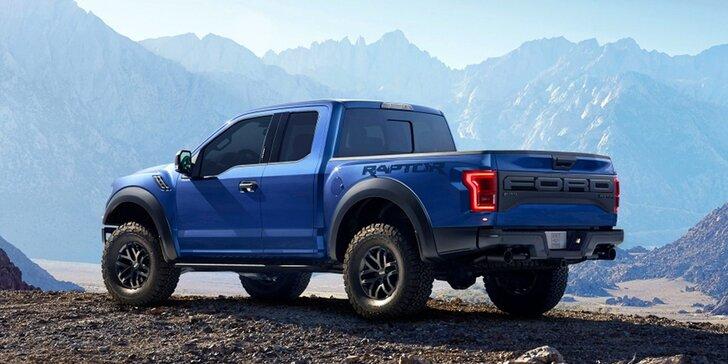 Jízda snů s Fordem Raptor: na 20 či 40 minut pánem silnic či polygonu