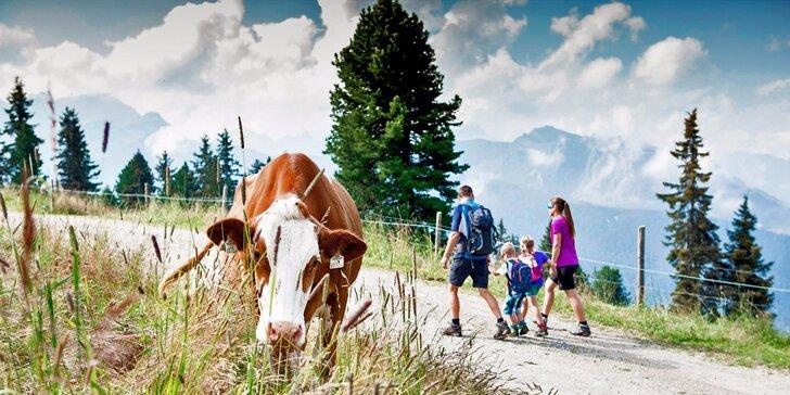 Letní pobyt v Tyrolsku: plná penze, wellness, 2 děti do 12,9 let zdarma
