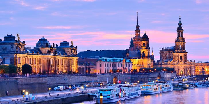 Výlet do Drážďan: doprava autobusem, plavba s večeří a živou hudbou