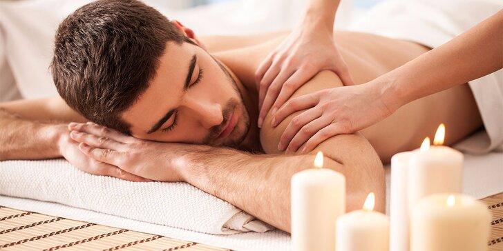 Masáž pro muže dle výběru ze 3 druhů - 30, 60 i 90 min.