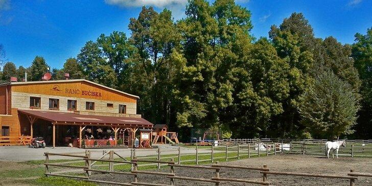 3 dny v chatičkách na koňském ranči pro dva či rodinu - nové VIP wellness