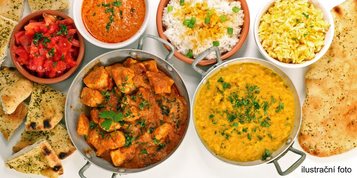 Nabídka plná vůní: Otevřený voucher na cokoli z menu indické restaurace