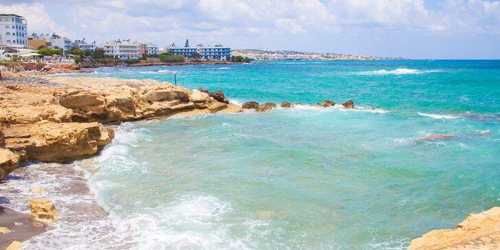 Letecky na Krétu: 7 nocí ve 4* hotelu 100 m od moře s all inclusive a bazénem