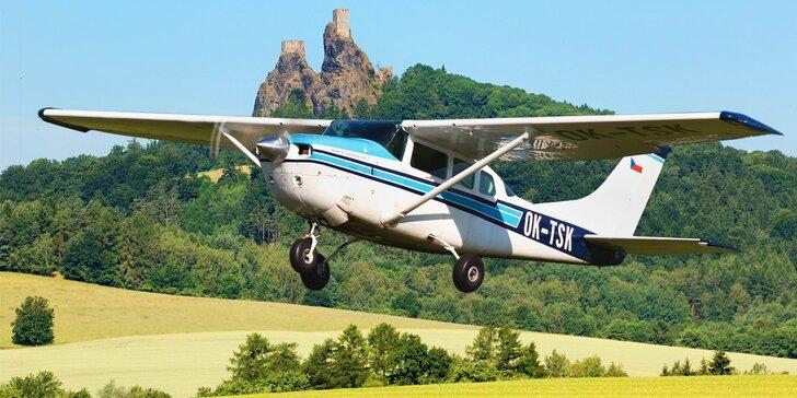 Jako orli: Seznamovací lety v letounu Cessna nad krásami Českého ráje