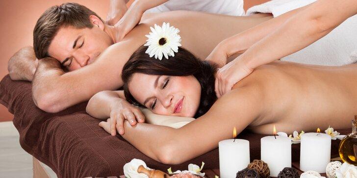 Odpočinek pro dva: hodinové párové masáže dle výběru