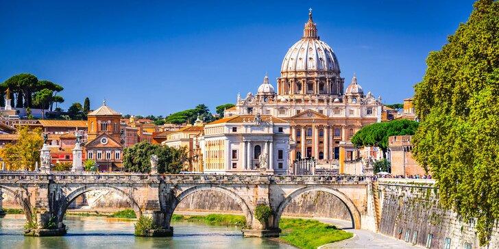 Na skok do Říma: poznávací zájezd s autobusovou dopravou a 1 nocí v hotelu