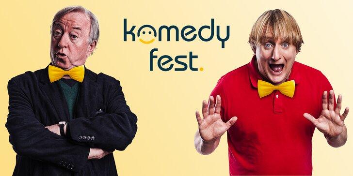 Lístek na festival humoru Komedy Fest: Sokol, Pavlásek, Holubová i Klepl