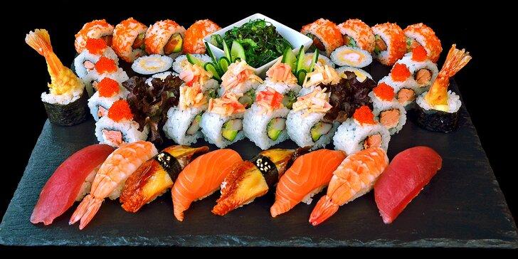Gurmánské sushi sety v luxusní restauraci Sakura Sushi