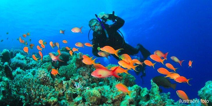 Do hlubin: Ochutnávka potápění v jámě nebo ve volné vodě v přírodě