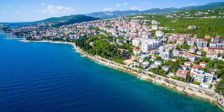 Léto v Chorvatsku: 5 nebo 7 nocí, 70 metrů od moře, snídaně, dítě zdarma