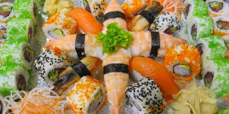 Japonsko na talíři: 24 vegetariánských nebo 32 luxusních kousků sushi