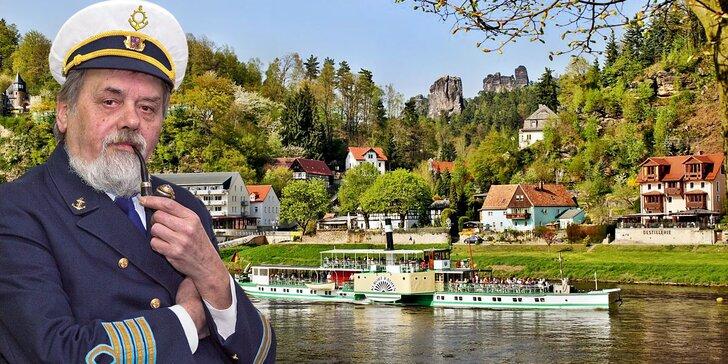 Zážitková plavba z Děčína do lázeňského Kurort Rathen a zpět, oběd i večeře