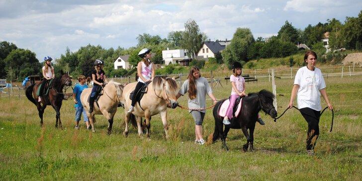 5 dní v přírodě: Letní příměstský jezdecký tábor u koní u Stříbrného rybníku